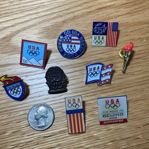 A Collection of USA Olympic Pins